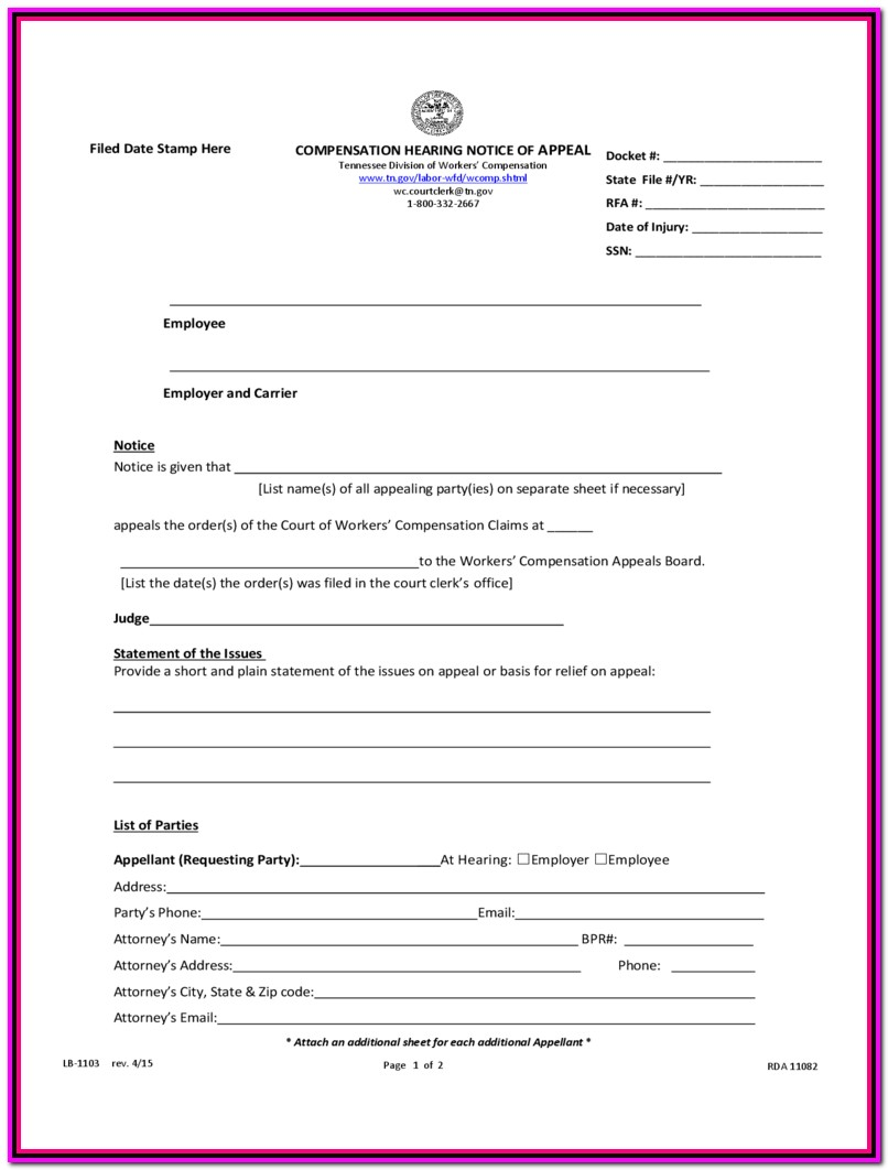 Workers Compensation Waiver Form Wisconsin