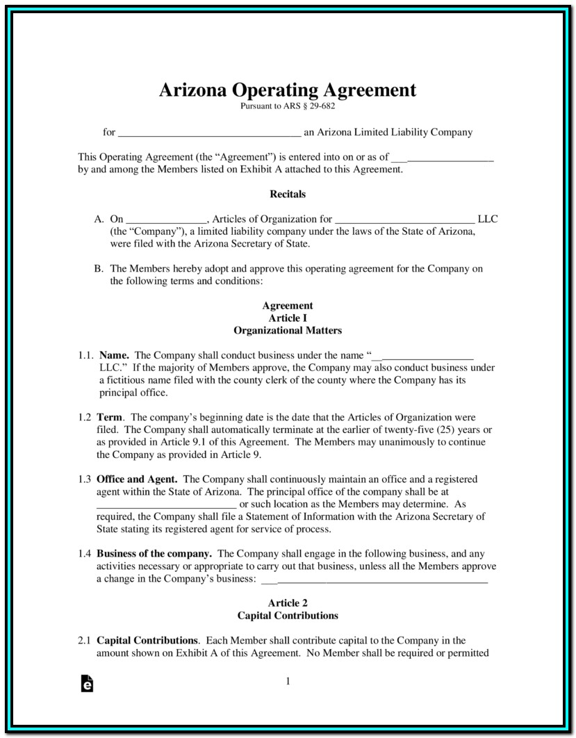 Arizona Corporation Llc Forms