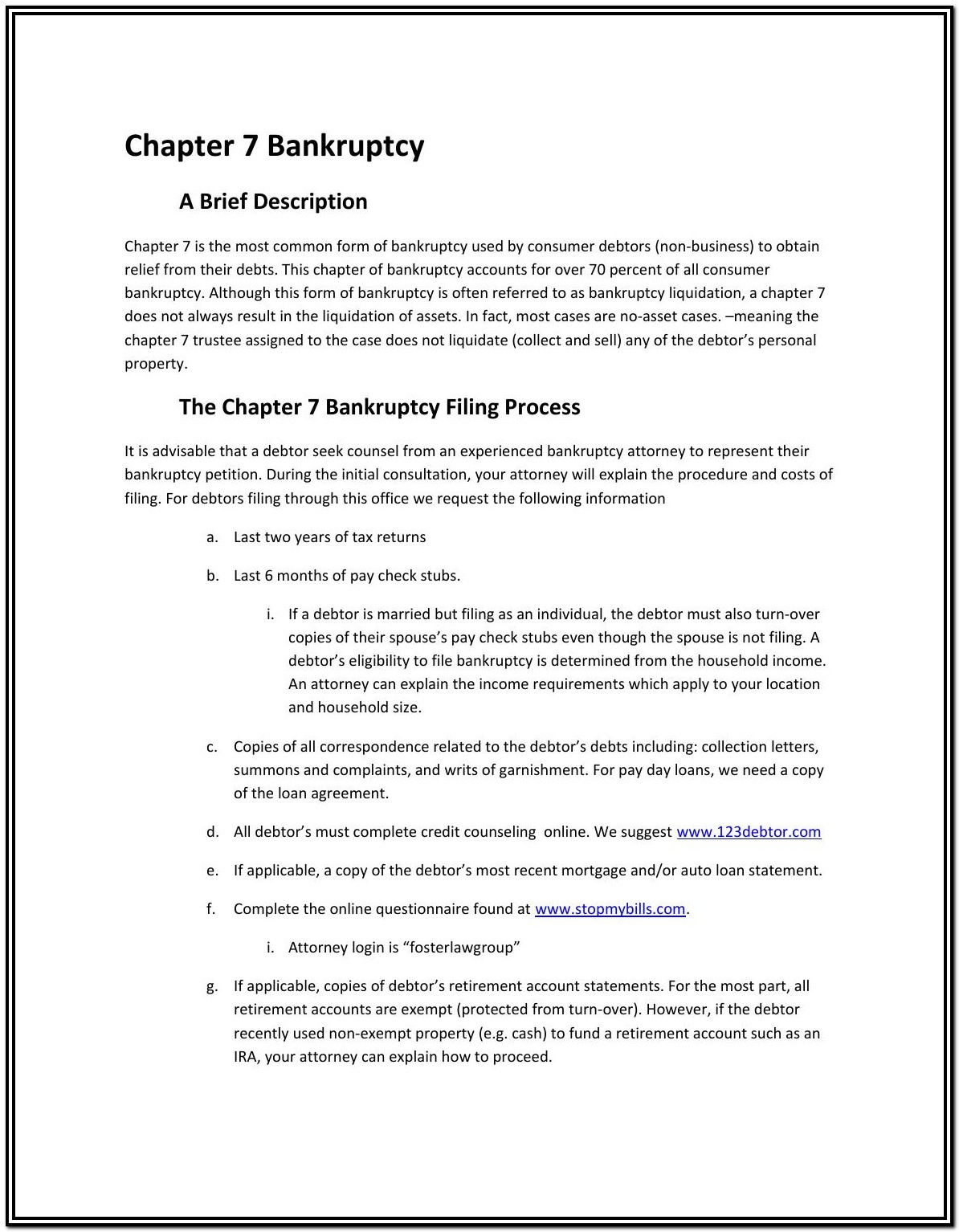 Bankruptcy Forms Chapter 7 California