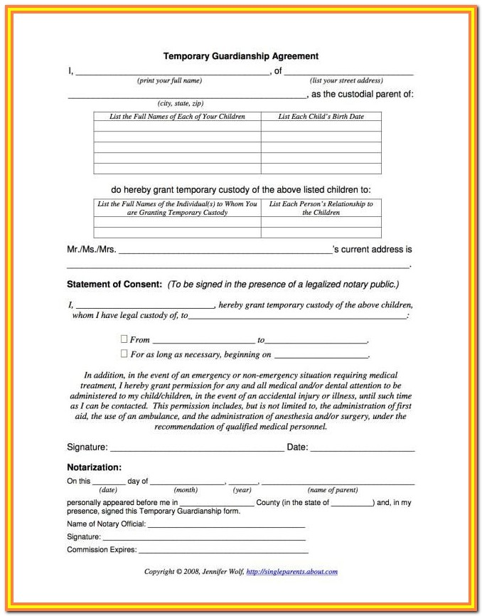 Child Guardianship Forms Illinois