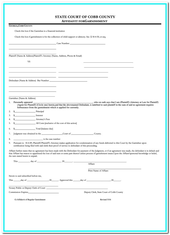 Cobb County Court Forms