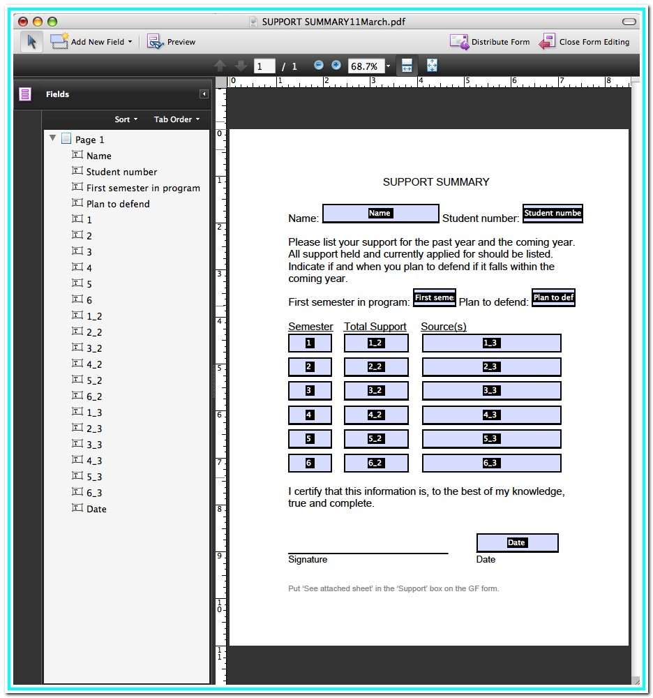 Using Adobe Acrobat Ver 9 To Make A Fillable Pdf In How To Make A Fillable Form In Pdf