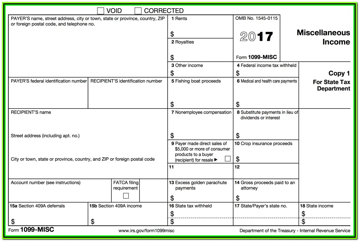 Fillable 1099 Misc Form 2017 Copy B