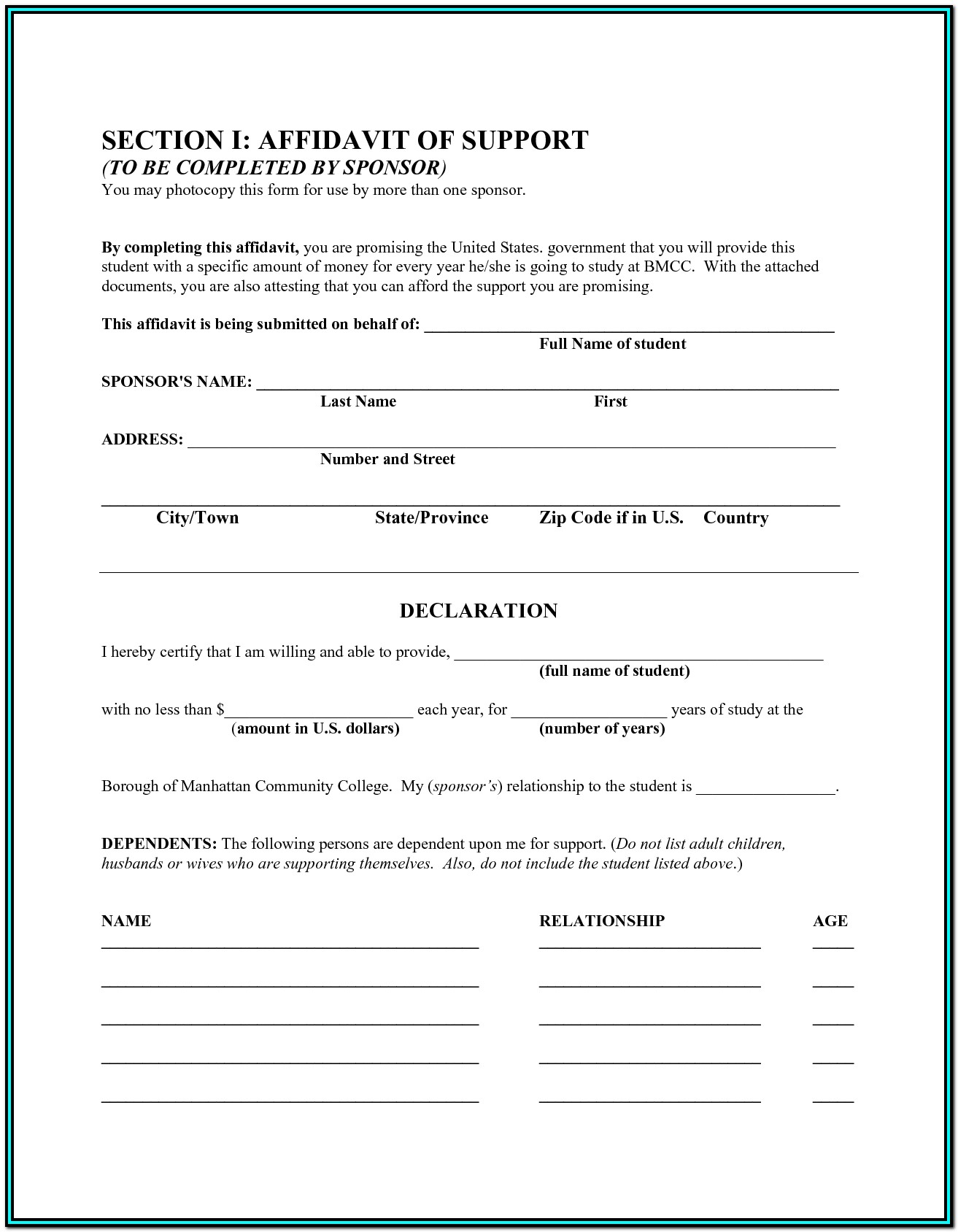 General Affidavit Form Texas Pdf