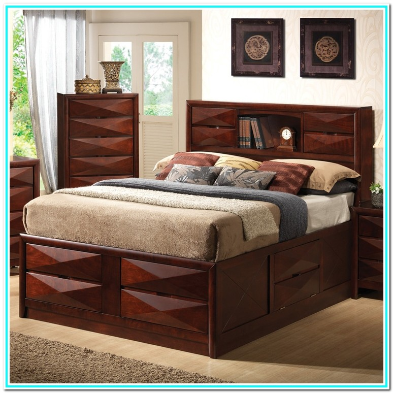 Queen Bedroom Sets With Drawers Under Bed