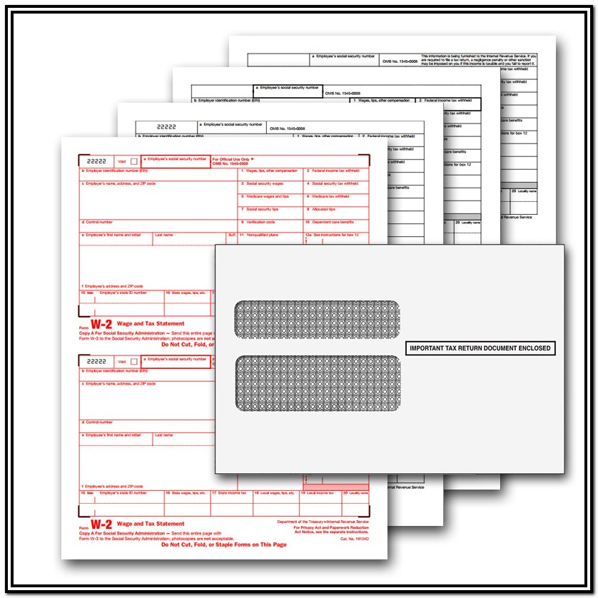 Quickbooks W2 Forms Blank Paper
