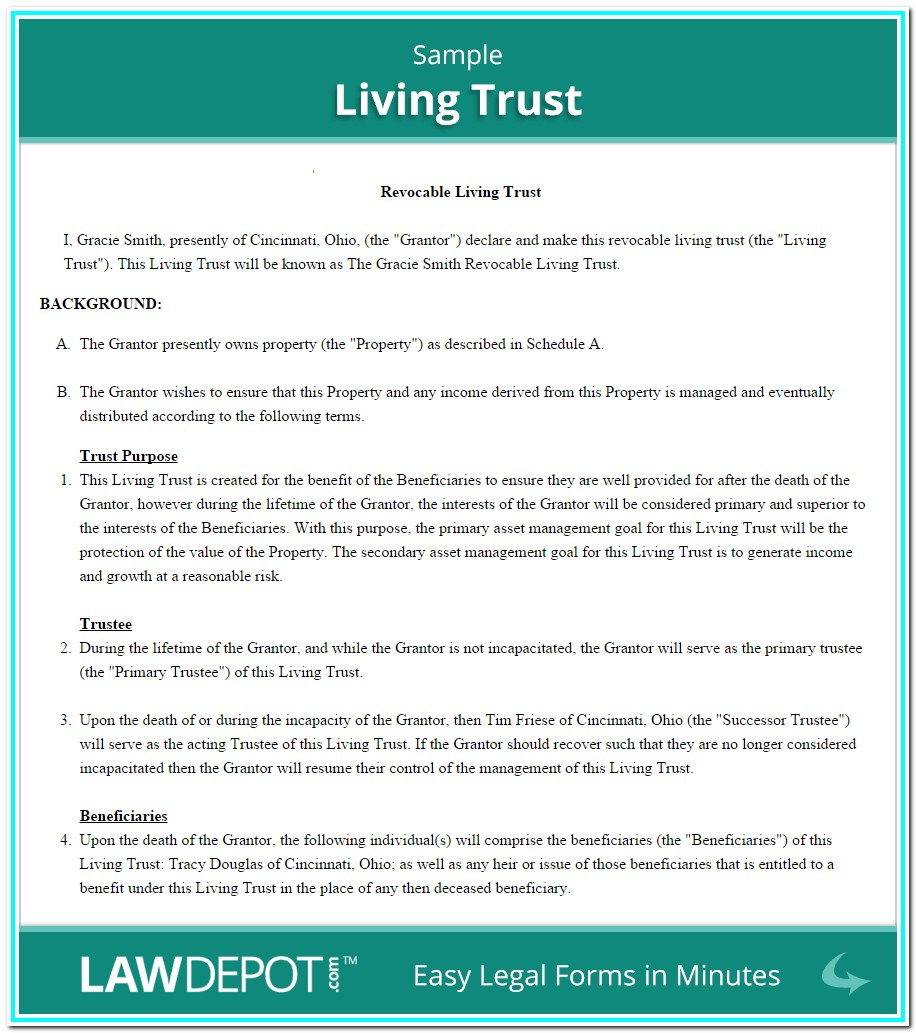 Revocable Living Trust Forms California