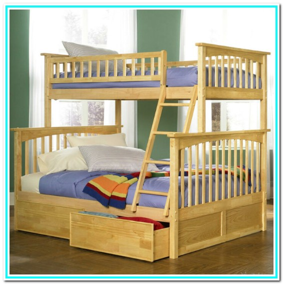 Solid Wood Bunk Beds With Drawers