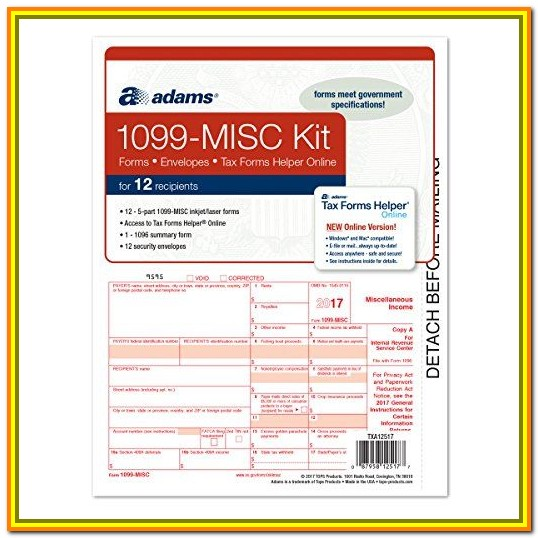 Tax Form 1099 Misc Online