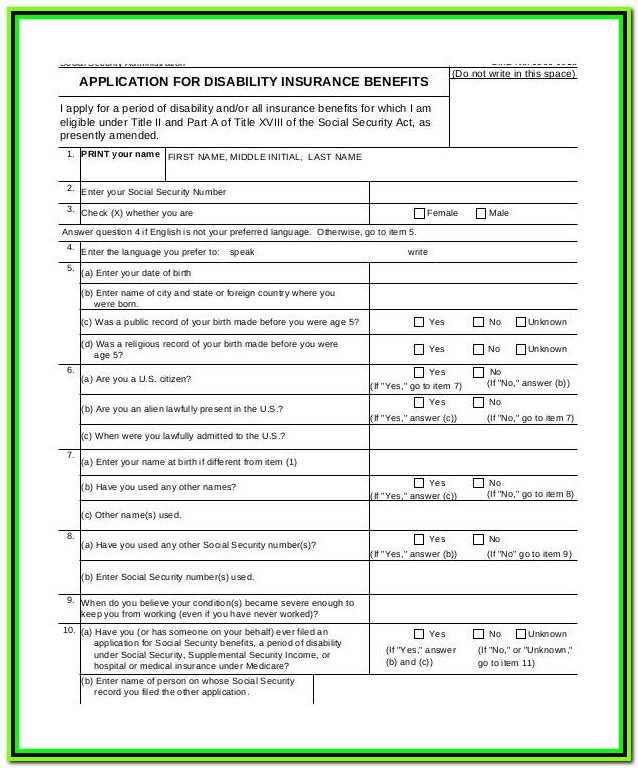 Temporary Disability Forms Ca