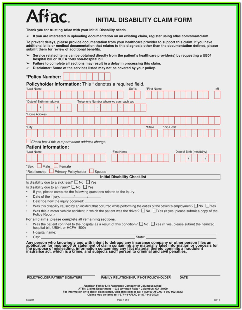 Temporary Disability Tax Forms