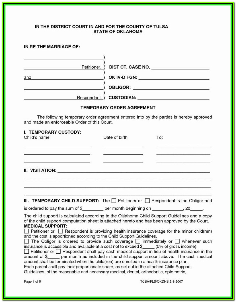 Temporary Guardianship Forms Texas