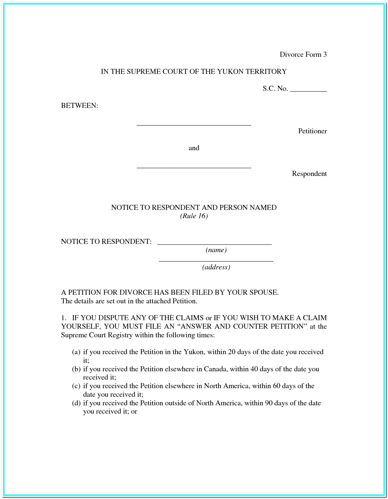 Texas Divorce Forms