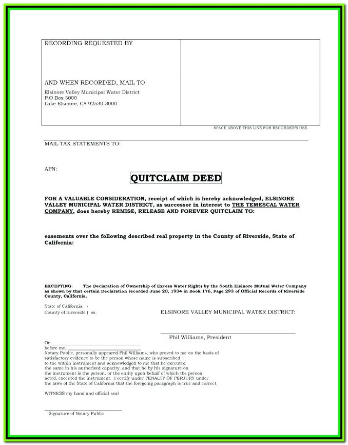 Texas Quit Claim Deed Form Bexar County