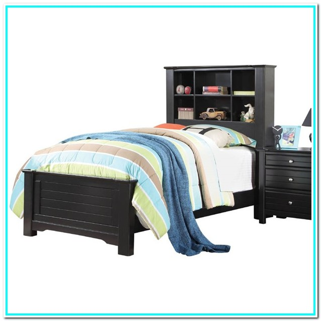 Twin Bed With Rails And Storage