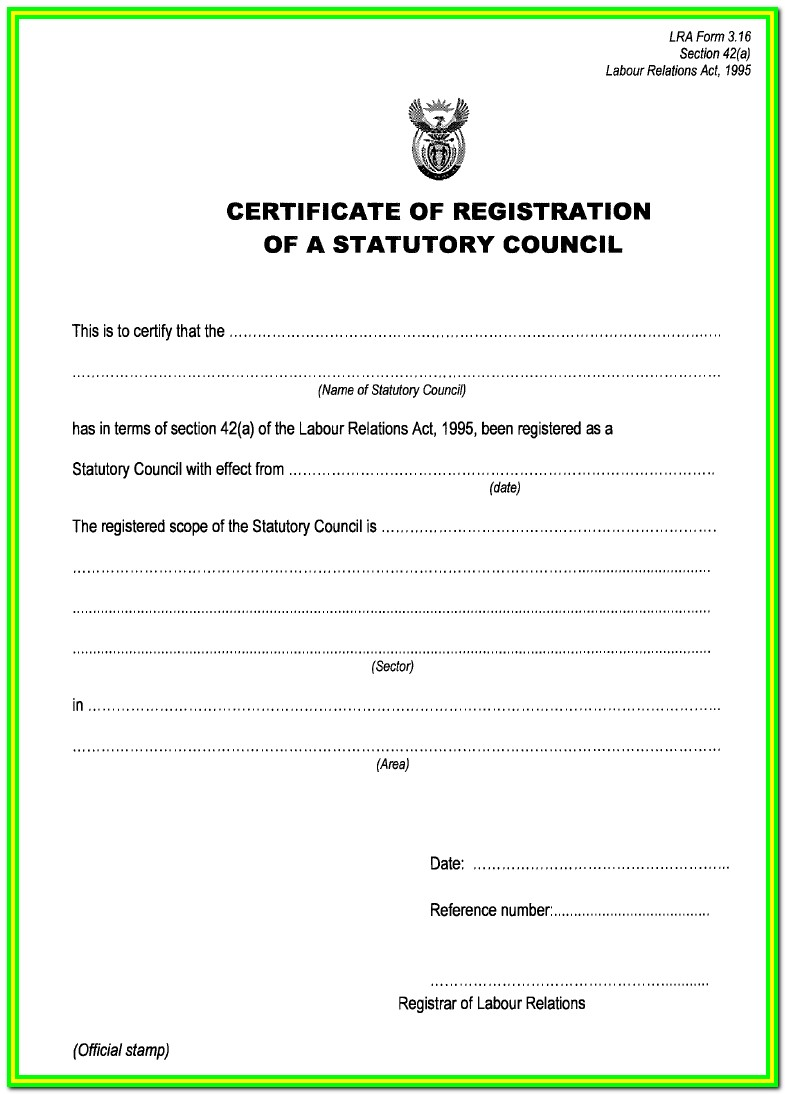 Workmans Comp Forms South Africa