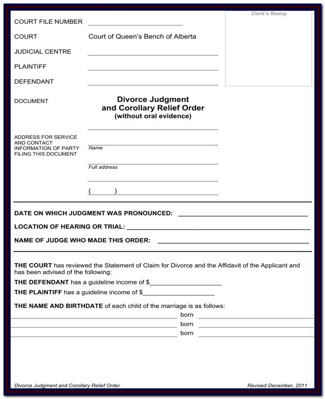 Alberta Divorce Forms Download