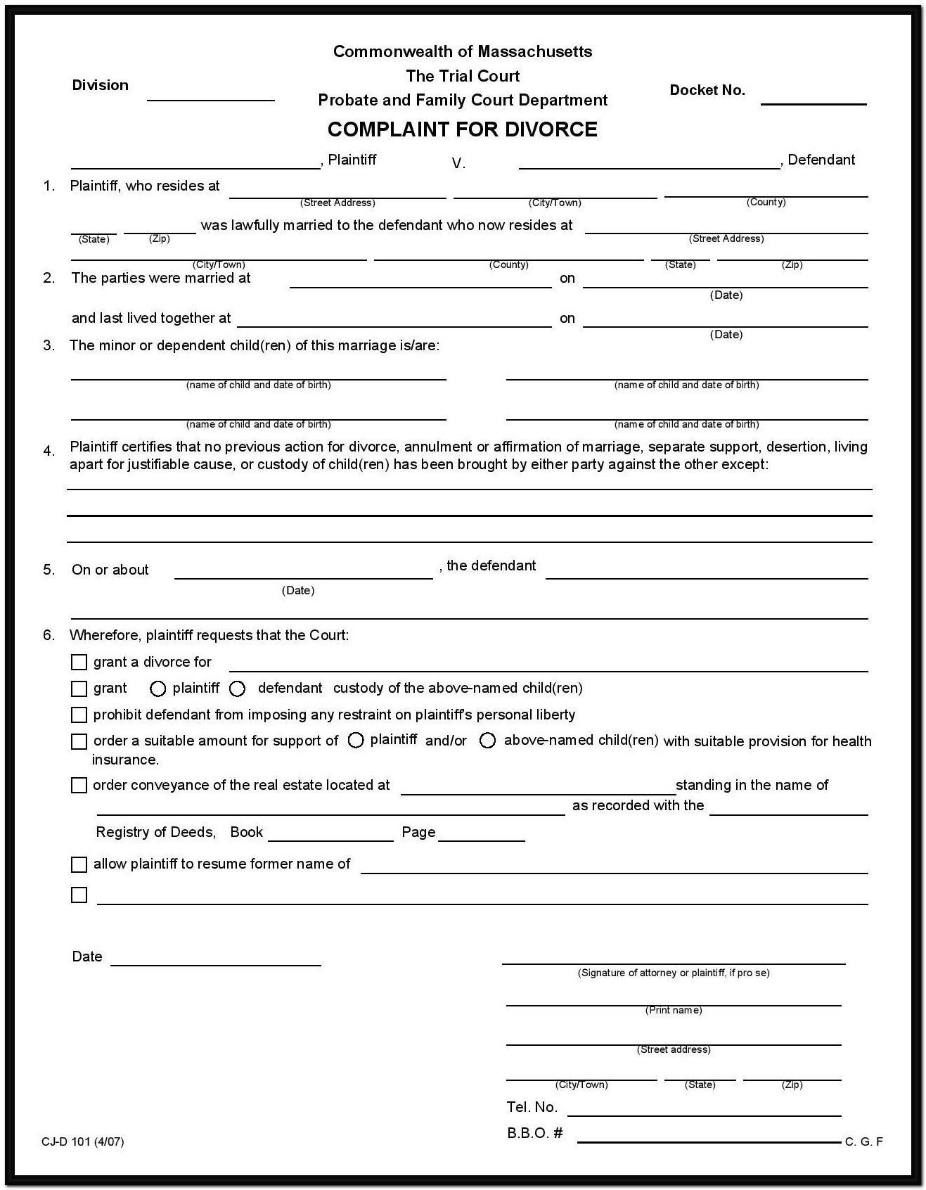 Delaware Divorce Forms Online