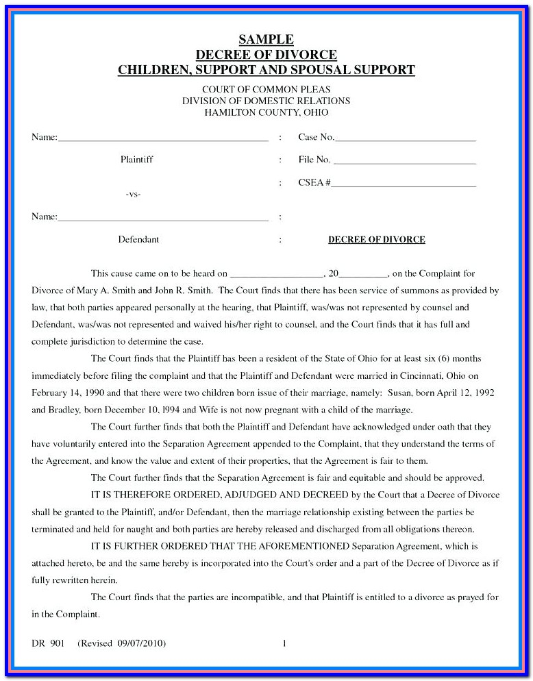 Racine Wi Divorce Forms