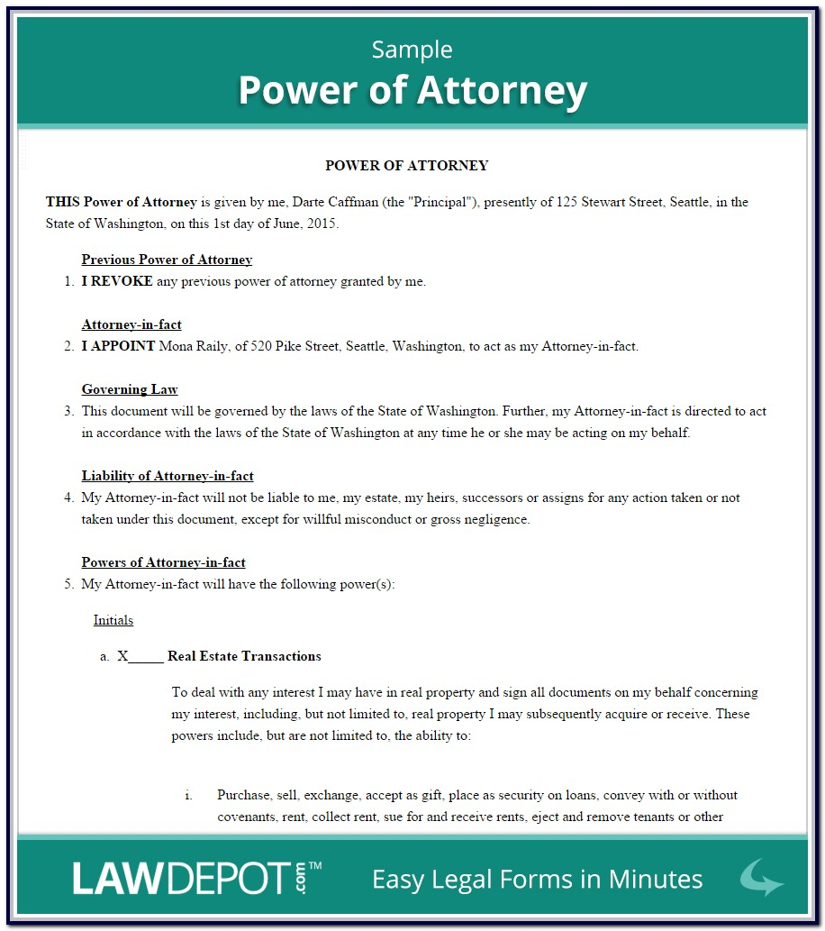Revoke Power Of Attorney Form Free Uk