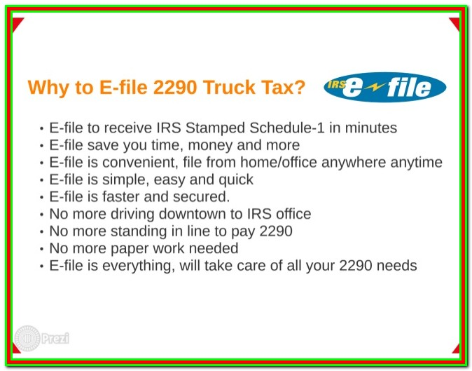 Electronically File Form 2290