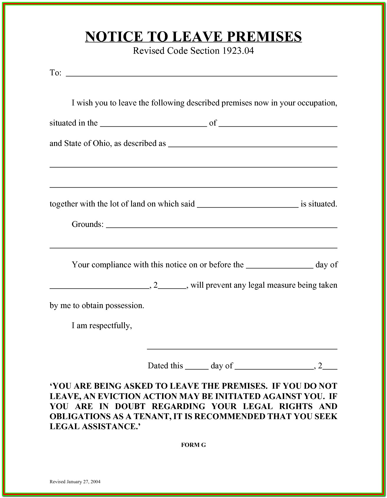 Forms For Eviction In Florida
