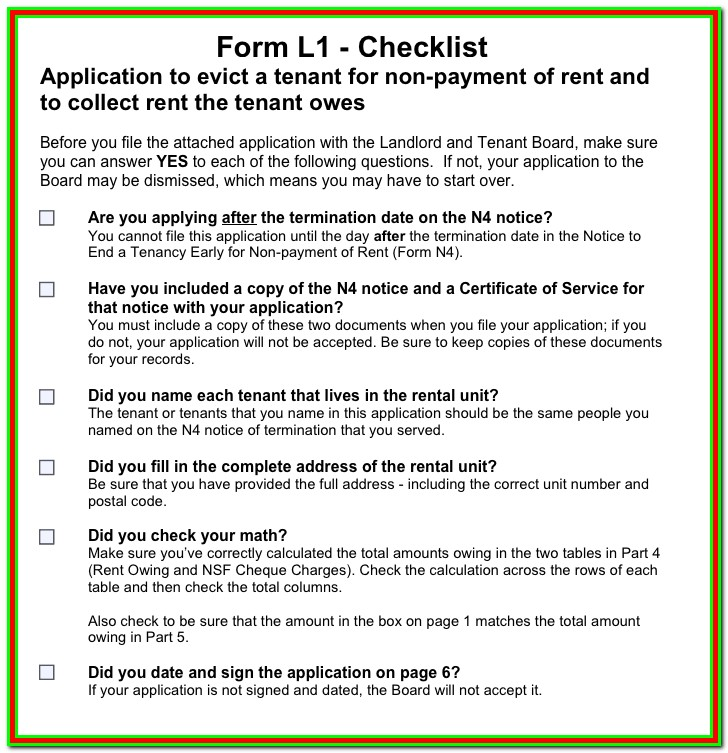 Forms For Eviction In Ontario