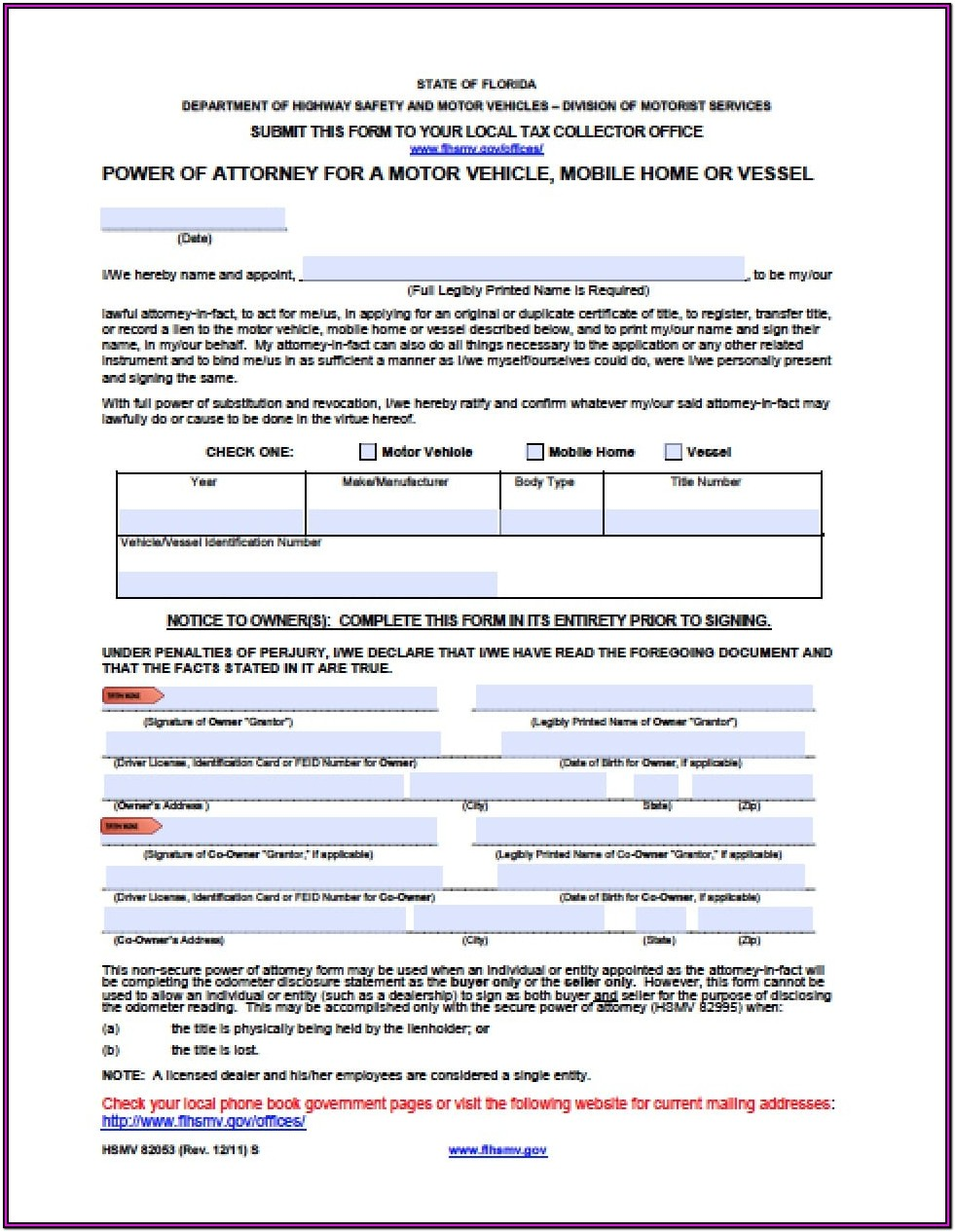 Free Florida Durable Power Of Attorney Form 2018