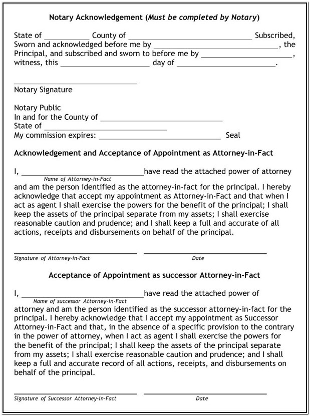 Free Printable Durable Power Of Attorney Form Oregon