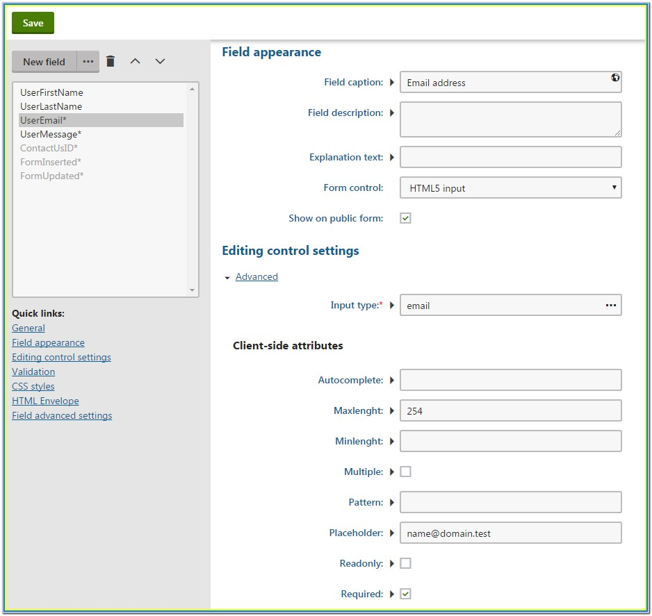 Html5 Web Form Builder
