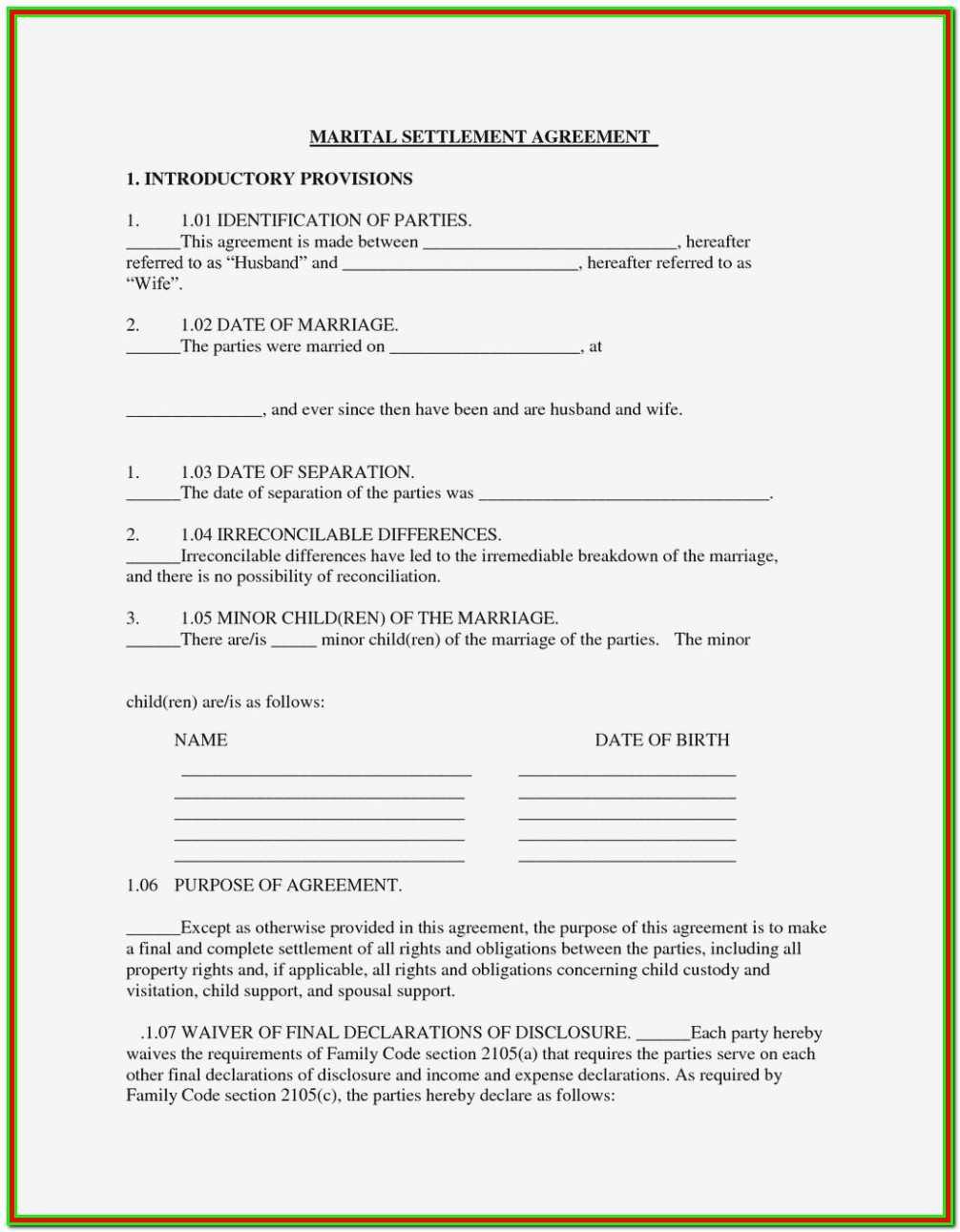 Larimer County Court Divorce Forms