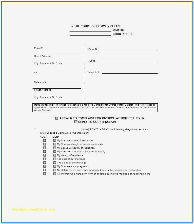 New York State Uncontested Divorce Forms