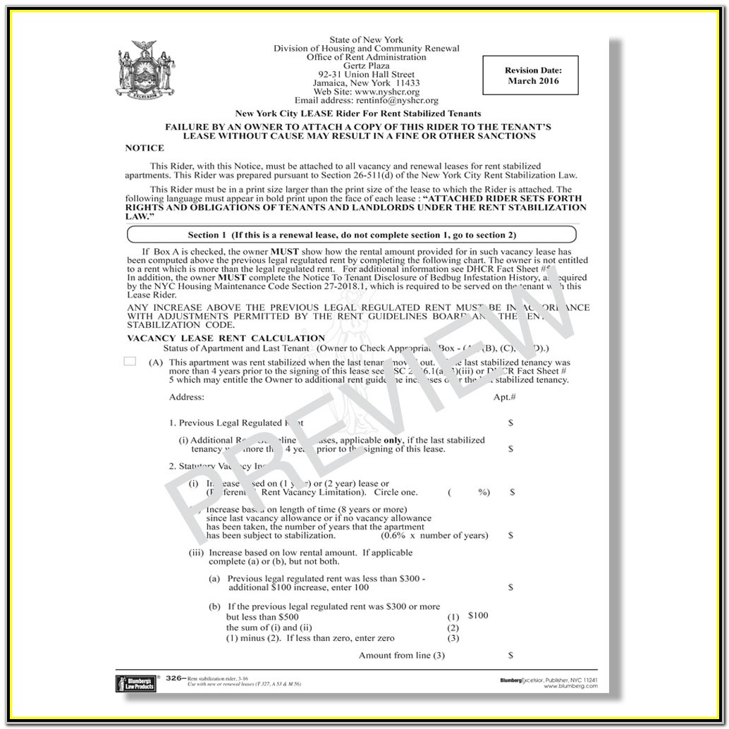 Nyc Lease Renewal Form Rtp 8