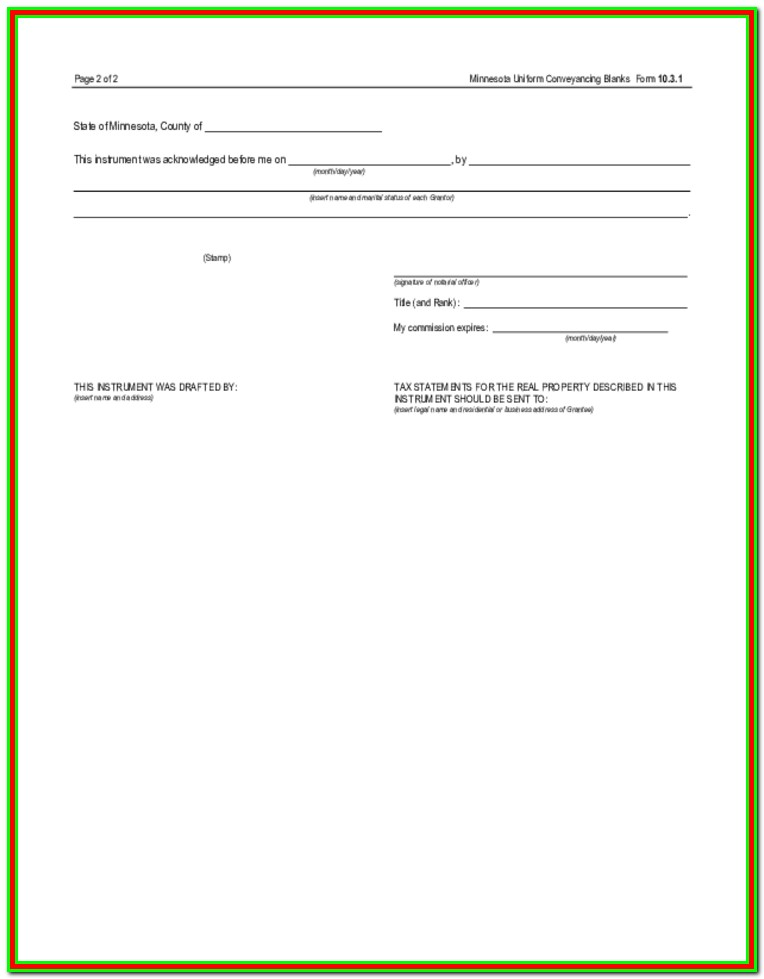 Quit Claim Deed Form El Paso County Colorado