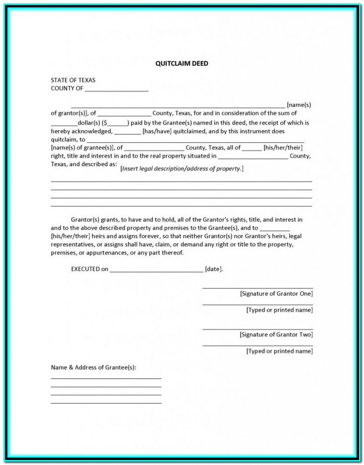 Quit Claim Deed Form Summit County Ohio