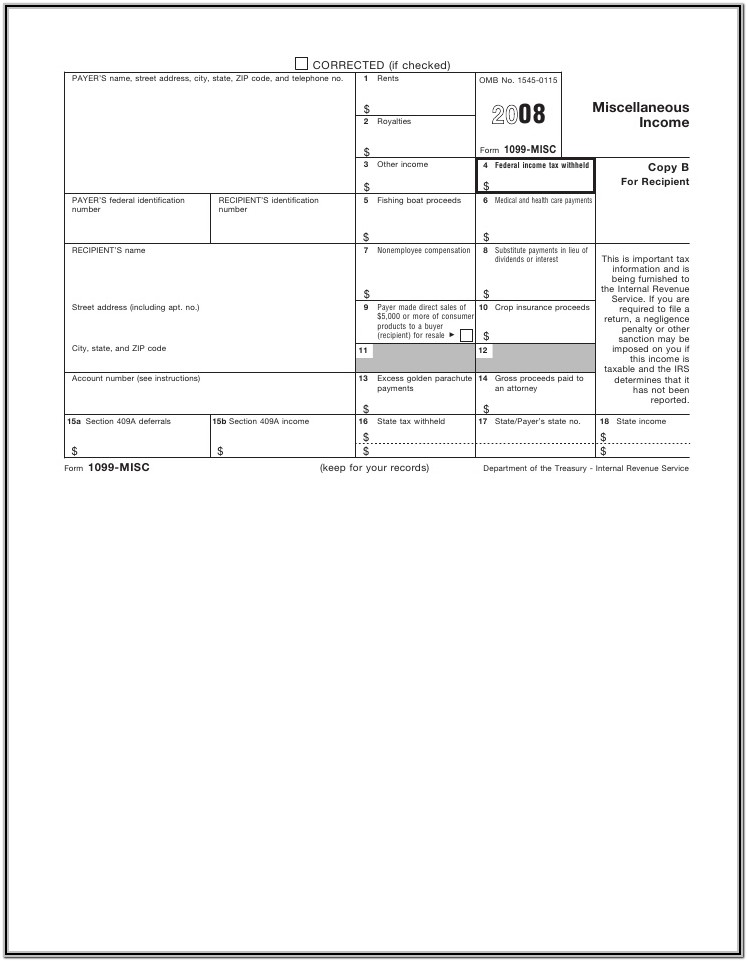1099 Form Misc Income