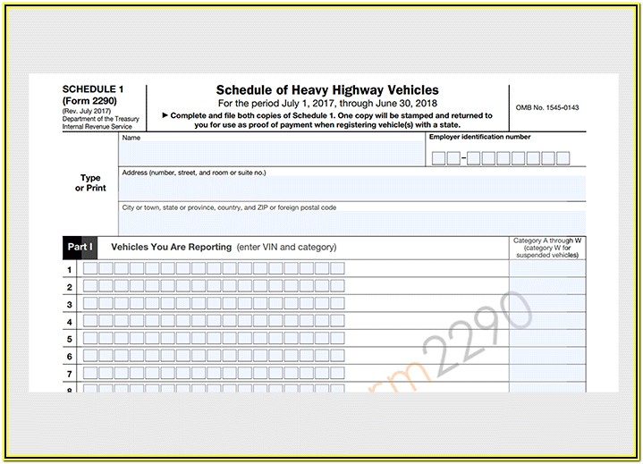 2290 Irs Form Online Filing