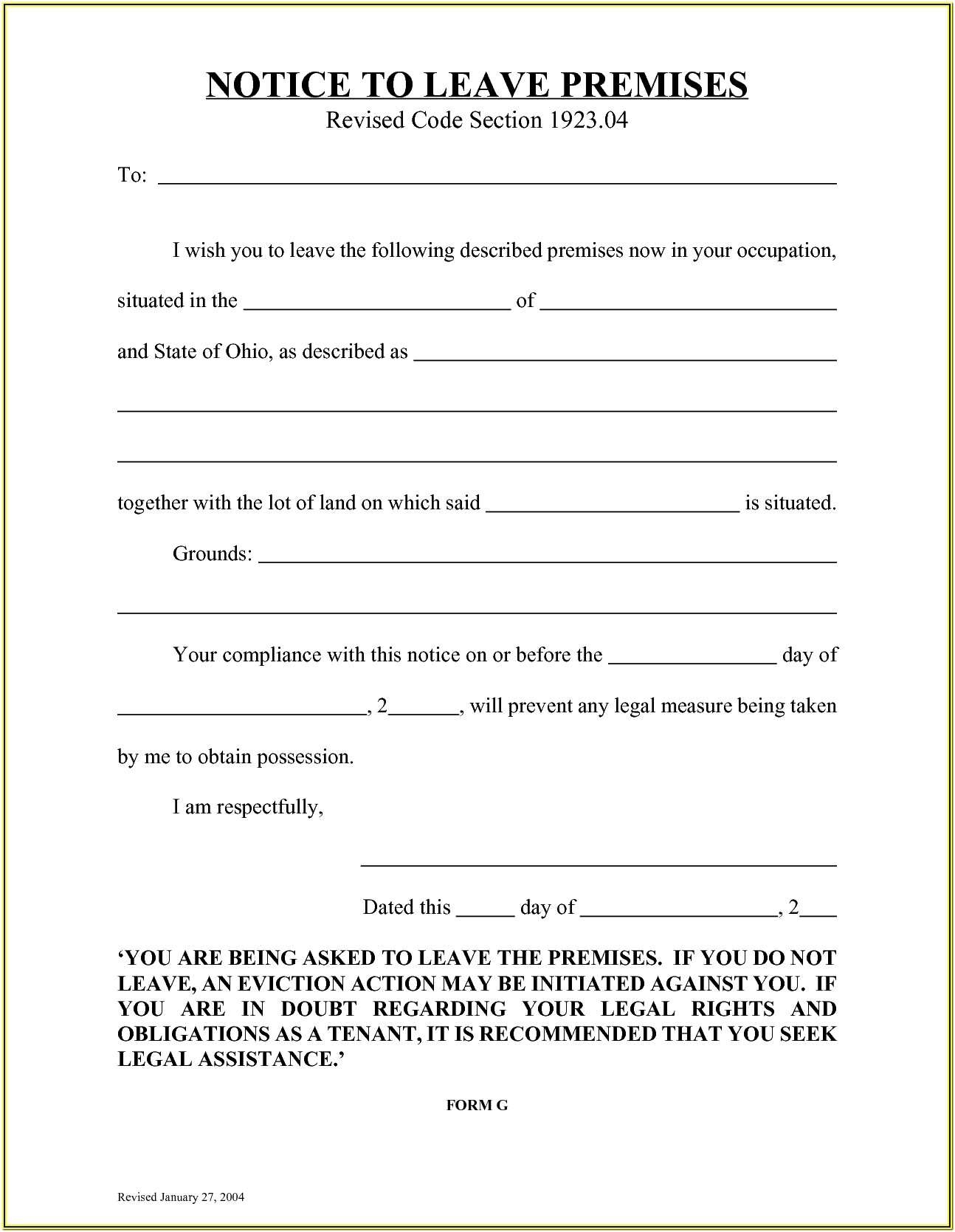 3 Day Eviction Notice Form Florida