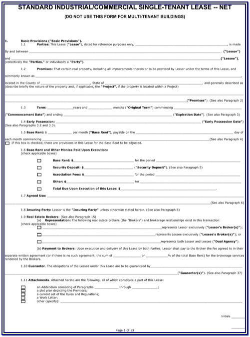 Arizona Rental Lease Agreement Form
