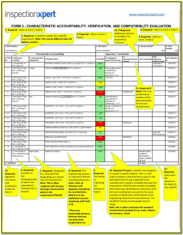 As9102 Form 3 Example