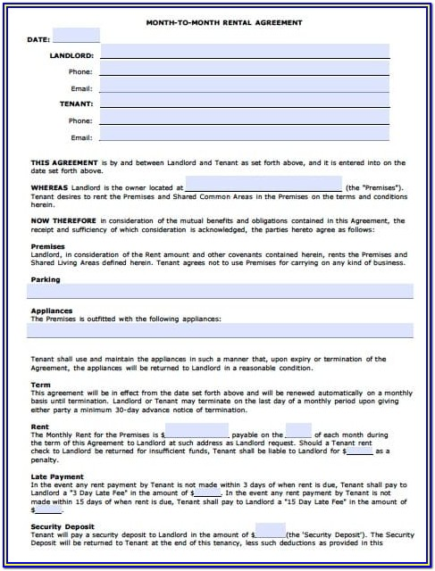 Az Rental Agreement Form