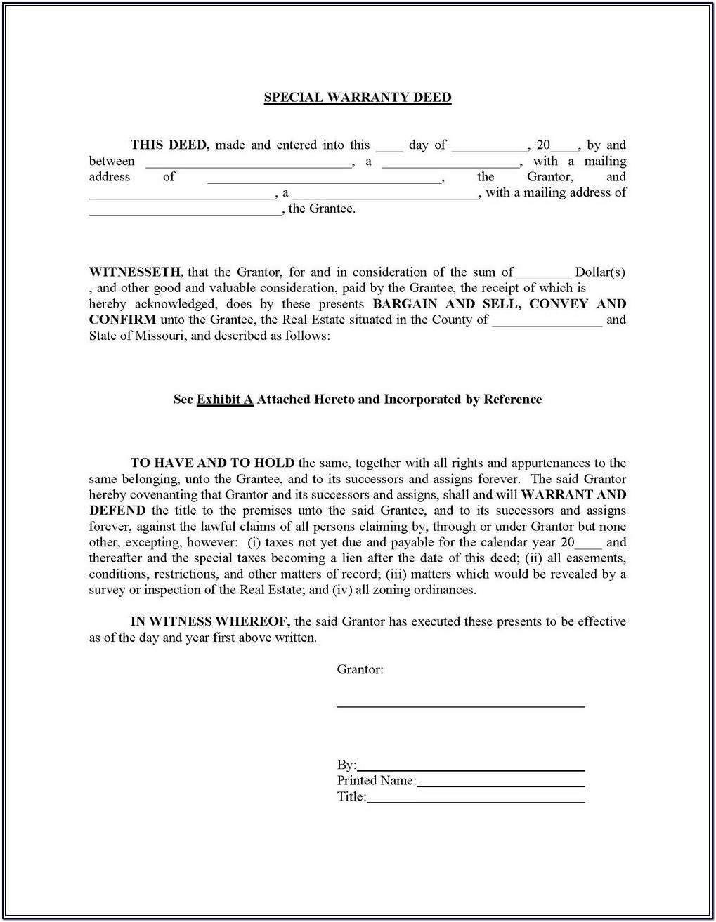 Blank Warranty Deed Form New Mexico