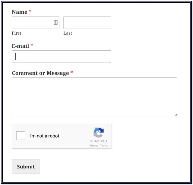 Contact Form With Recaptcha Wordpress