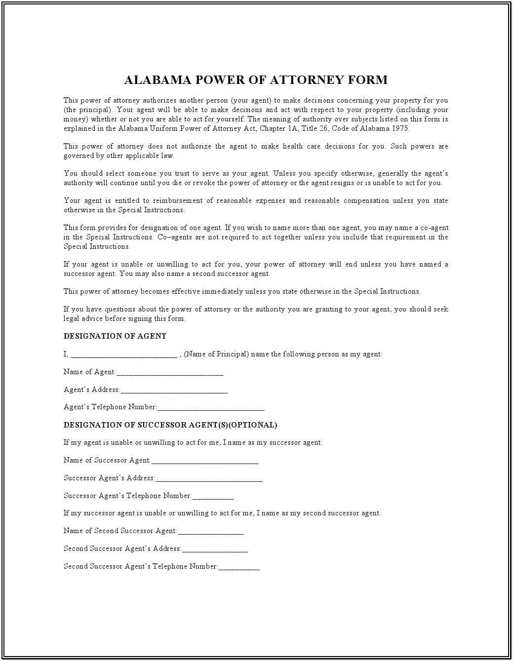 Durable Power Of Attorney Texas Form 2019