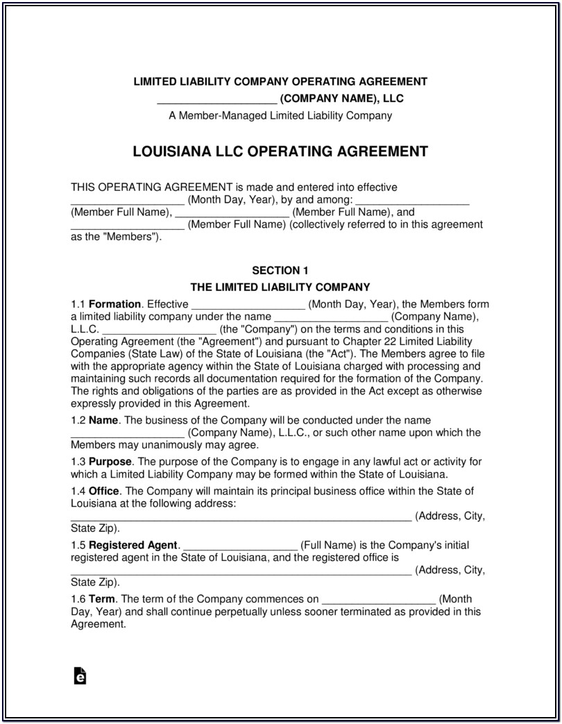 Form An Llc In Louisiana Online
