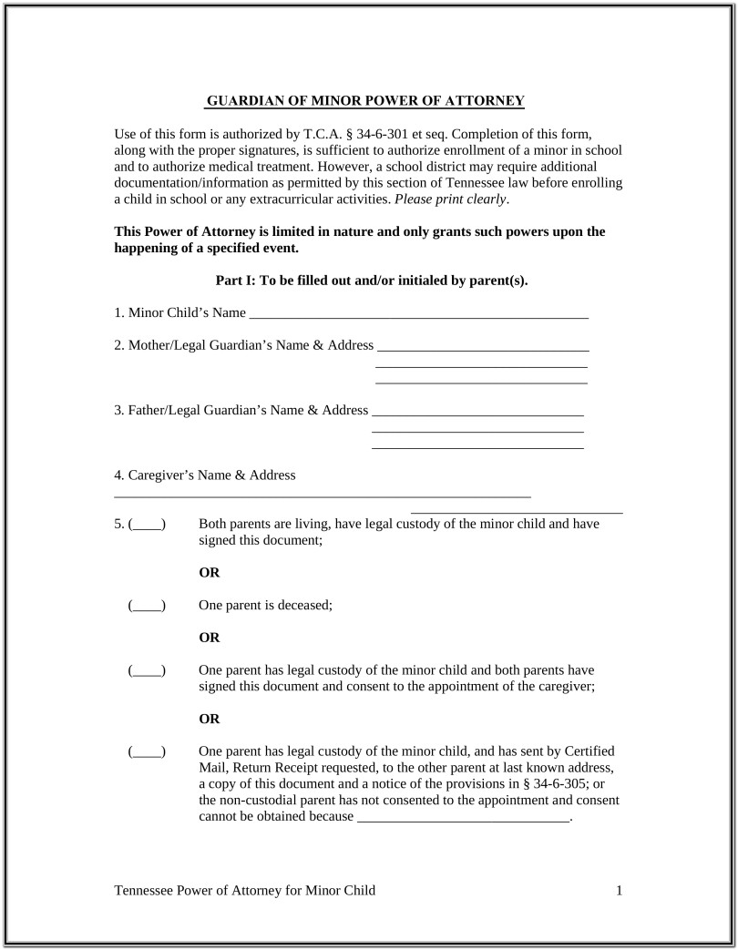 Free Printable Guardianship Forms Ohio