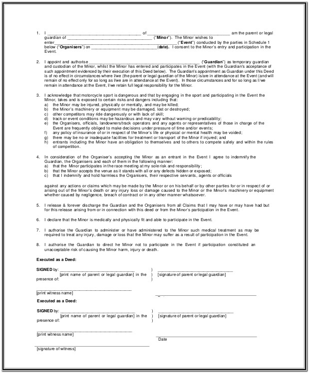 Grandparent Guardianship Form Ohio