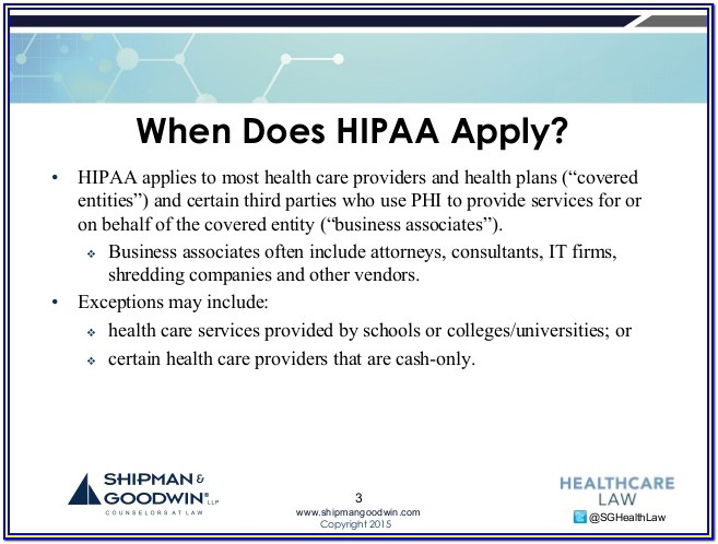 Hipaa Compliance Form For Vendors
