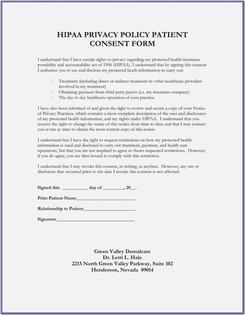 Hipaa Compliance Forms For Employers
