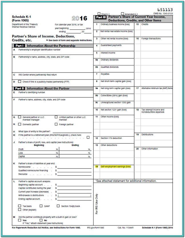 Irs Form 1065 Schedule B 1